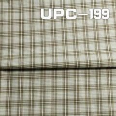 "UPC-199 100% Cotton yarn-dyed check fabric   57/58"" 112g/m2"