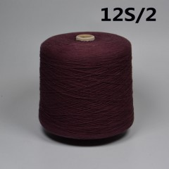 12 / 2s cotton reactive dyeing yarn 12 / 2s ring spinning yarn (active violet /