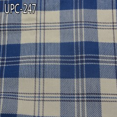 UPC-247 100%Cotton Tartan yarn-dyed fabric 319g/m2 57/58""