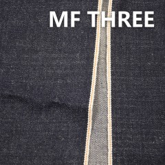 "MF THREE 100% Cotton Selvedge Raw Denim Twill  Dark Bllue 34/35"" 15.3OZ"
