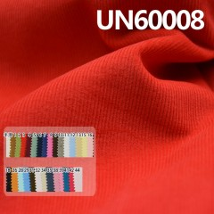 "UN60008	100%Cotton Dyed Corduroy  21W 4H  43/44""  135g/m²"