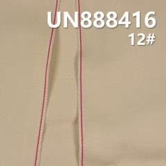 "UN888416 99% Cotton 1%Sp Selvedge Dyed Denim Twill 33/35"" 8.9oz(Light Beige)"