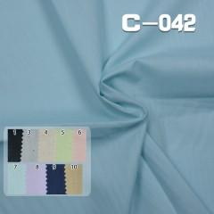 C-042 100%cotton poplin Dyed Fabric 94g/m2 54/55""