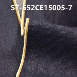 "ST-552CE15005-7 Cotton spandex slub twill selvedge denim  12OZ 35/36"" (Blue yellow write edge"