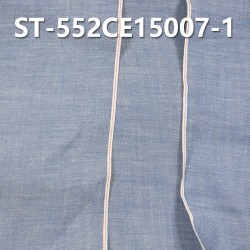 "ST-552CE15007-1 100% Cotton Slub Selvedge Denim 4.5OZ 34/36"" (Blue cow red write edge)"