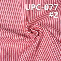 UPC-077 100%cotton yarn dyed fabric 57/58""