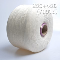 Y0013 20S+40D Cotton Spandex  Yarn