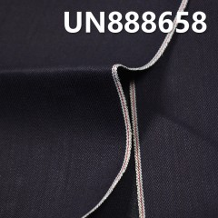 "UN888658 100% Cotton Dark Blue Fill Black Selvedge Denim Twill 30/31"" 13.85oz"