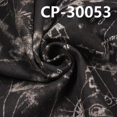"CP-30053 100% Cotton slub denim 3/1 ""Z"" Twill+Discharge print 58/59"" 11oz"