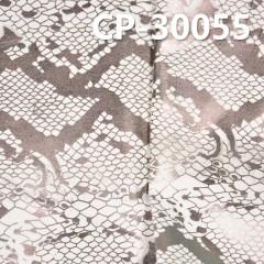 "CP-30055 97%cotton 3%spandex satin fabric + snakeskin printing 46/47"" 221g/m2"