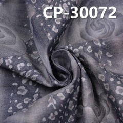 CP-30072 cotton combed denim printed Caipen rose cloth factory direct spot