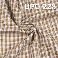 "UPC-228 100%Cotton Yarn Dyed Check Fabric  57/58"" 140g/m2"