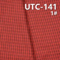 "UTC-141 100%Polyester Yarn Dyed Check Fabric 55/56"" 135g/m2"