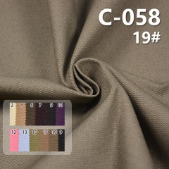 C-058 100%cotton matin canvas Dyed Fabric 84*31/10+10*8 275g/m2 57/58""