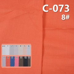 C-073 100%cotton slub twill dyed fabric 78g/m2 54/55""