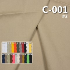"""C-001 100% Cotton Dyed Canvas 100x52/20x20  57/58"""" 175g/m2 5.2oz"""