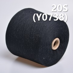 Y0738 20S 100%Cotton Ring Spun Yarn/Reactive Dyeing Yarn(Black)