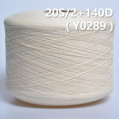 Y0289 20S/2+140D Cotton Spandex Core Yarn