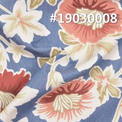 "100%Cotton Print denim 4.4OZ 64"" #19030008"