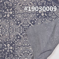"100%Cotton Print denim Fabric 4.5OZ 58.5"" #19030009"