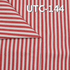 "UTC-144 65%Cotton 35%Polyester 2/1 ""z"" Twill yarn-dyed Stripes Fabric 305g/m2 58"