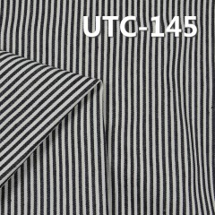 "UTC-145 65%Cotton 35%Polyester 2/1 ""z"" Twill yarn-dyed Stripes Fabric 290g/m2 58"