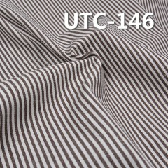 "UTC-146 65%Cotton 35%Polyester 2/1 ""z"" Twill yarn-dyed Stripes Fabric 310g/m2 58"