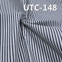 "UTC-148 65%Cotton 35%Polyester 2/1 ""z"" Twill yarn-dyed Stripes Fabric 240g/m2 58"