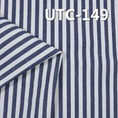 "UTC-149 65%Cotton 35%Polyester 2/1 ""z"" Twill yarn-dyed Stripes Fabric 265g/m2 58"
