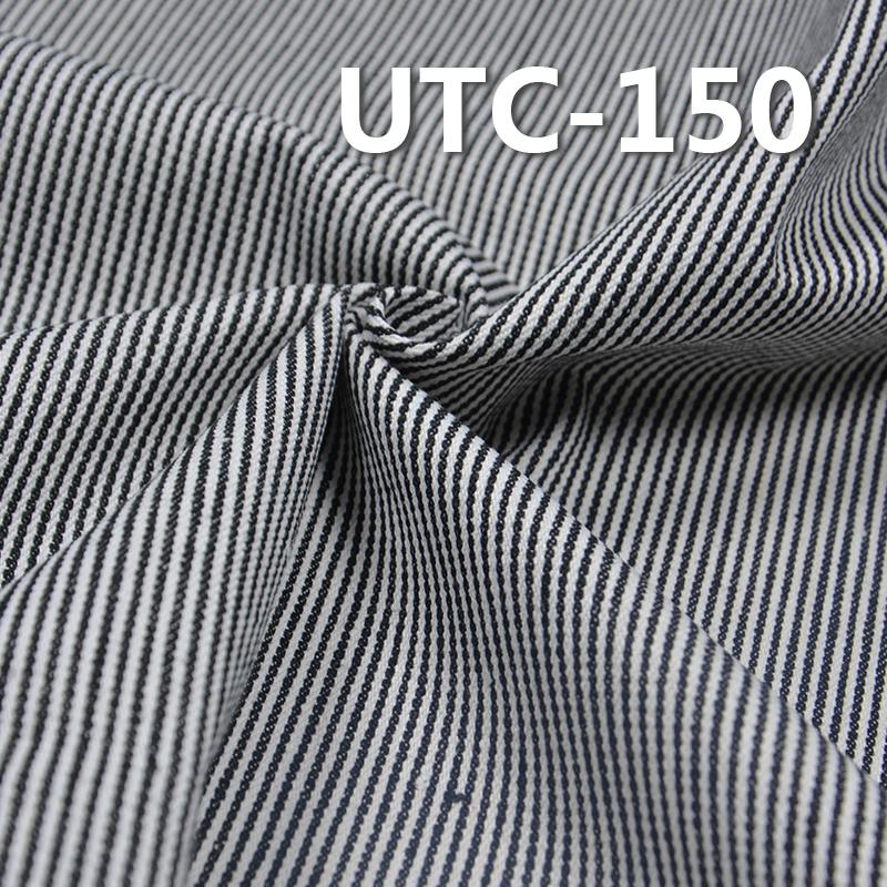 "UTC-150 65%Cotton 35%Polyester 2/1 ""z"" Twill yarn-dyed Stripes Fabric 310g/m2 58/59"""