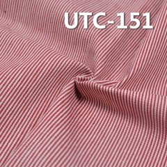 "UTC-151 65%Cotton 35%Polyester 2/1 ""z"" Twill yarn-dyed Stripes Fabric 360g/m2 58"