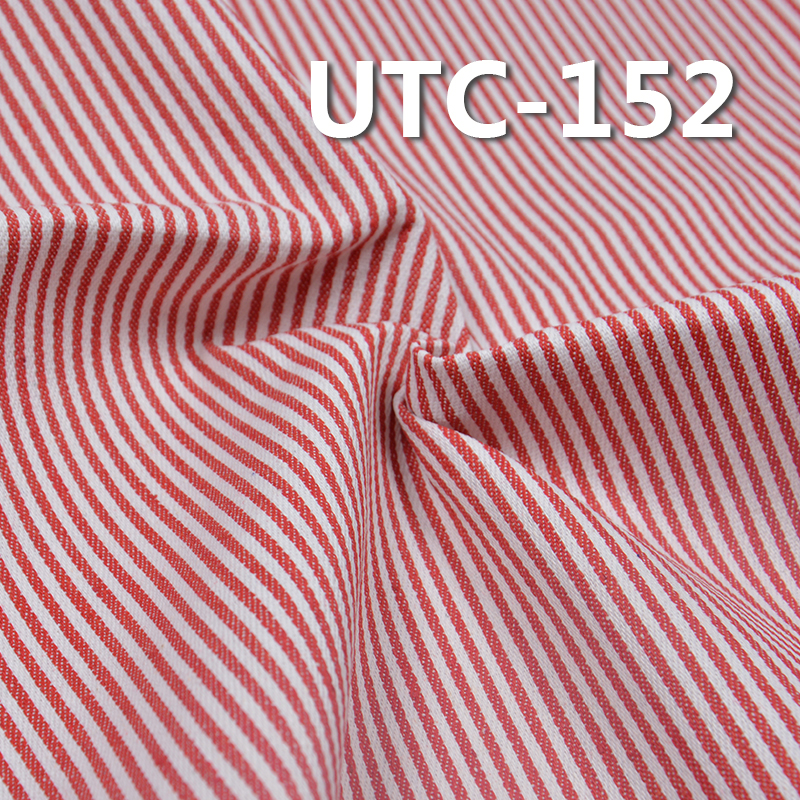 "UTC-152 65%Cotton 35%Polyester 2/1 ""z"" Twill yarn-dyed Stripes Fabric 240g/m2 58/59"""