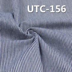 "UTC-156 65%Cotton 35%Polyester 2/1 ""z"" Twill yarn-dyed Stripes Fabric 295g/m2 58"