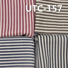 "UTC-157 80%Cotton 20%Polyester 3/1 ""z"" Twill yarn-dyed Stripes Fabric 210g/m2 58"