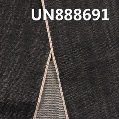 """100% Cotton Black Selvedge Denim Twill UN888691 32/33""""  13.5OZ"""