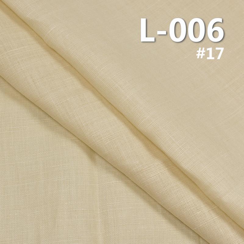 "55%Linen 45%Cotton Dyed Fabric 160g/m2 56/57"" L-006"