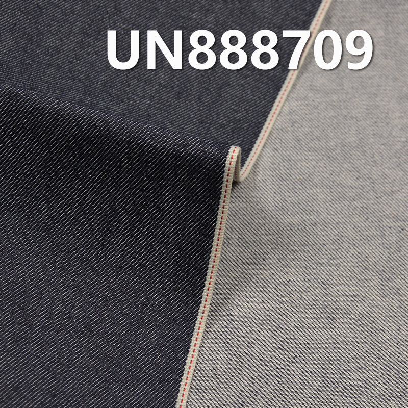 """UN888709 98.9% Cotton 1.1% Spandex Slub Selvedge Denim 30/31"""" 9OZ"""