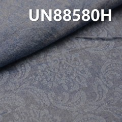 UN88580H Cotton three-dimensional palace flowers denim 58/59""