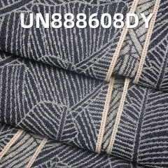 UN888608DY 100% Cotton Leaf of Banana Jacquard Dark Blue Selvedge Denim  32/33""